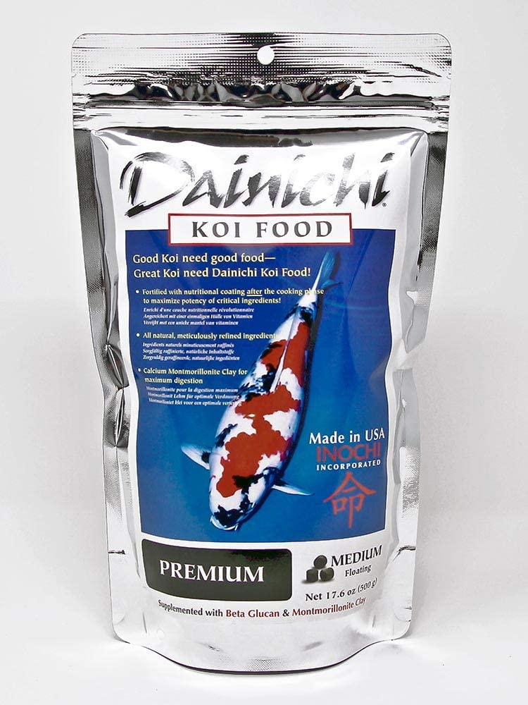 Dainichi Koi Food - Premium (1.1 Lbs), Medium (5.5 mm) Floating Pellet