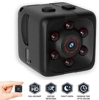 Mini cámara de vigilancia Full HD 1080P pequeña cámara de vigilancia portátil Micro cámara de Nanny con detección de Movimiento y visión Nocturna por Infrarrojos.