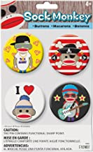 Patch Products Sock Monkey Buttons