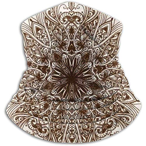 Bklzzjc Vintage à la Main Mandala en Molleton en Molleton pour Hommes - Coupe-Vent Cache-Cou Masque pour Temps Froid - Foulard