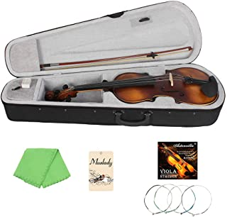 Docooler Muslady VLA-30 4/4 Full Size Classic Viola Spruce Topboard Rosewood Fretboard with Carry Case Rosin Cleaning Clot...