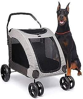 Pet stroller Lightweight and Portable Pet Stroller, Pet Stroller,Four-Wheeled Pet Stroller, Pet Stroller, Collapsible Pet Stroller,Pet Supplies (Color : Gray)