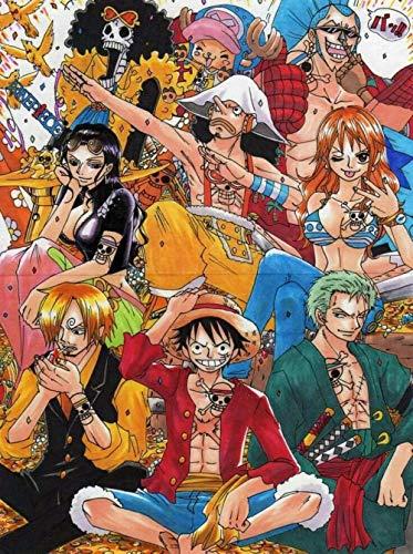 PUZZLE de 1000 piezas para adultos, rompecabezas familiar, rompecabezas de cartón, juegos educativos, rompecabezas para niños, niños Colección de personajes de anime One Piece