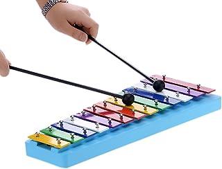 comprar comparacion ammoon 13 Bar Kids Glockenspiel Xilófono Nota Colorido Instrumentos de Percusión para la Educación El Ritmo de Juguete par...