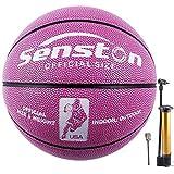 Senston Balon Baloncesto Fluorescente Balon de Baloncesto de Tamaño 6