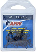 American Fishing Wire Brass 3-Way Swivels with Stainless Steel Rings (12-Piece)