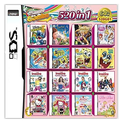 Juego 520 En 1 Cartucho De Juegos NDS Paquete De Juegos DS DS NDS NDSL NDSi 3DS 2DS XL Nuevo