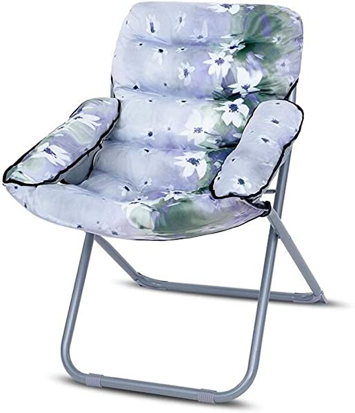 Carl Artbay Footstool Dark Green Lily Flower Pattern PP Cotton Sofa Chair Nursing Chair Keep Warm Individual Folding Computer Chair Home