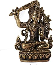 Pure Copper Manjushri Buddha Statue Sculpture All Handmade Tibetan Tantric Portable Buddha Small Buddha