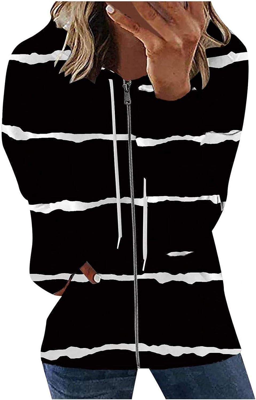 INNOVIERA Womens Tops Stripe/Tie Dye Sweatshirt Long Sleeve Pullover Casual Loose Hooded Tunic Shirts Hoodies for Women