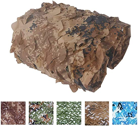 Bache,Filet de camouflage Filet de camouflage pour enfants Cam Filet de camouflage du désert AugHommestez le filet de renfort , Convient pour la chasse militaire à l'ombre de l'armée Range de tir en plei