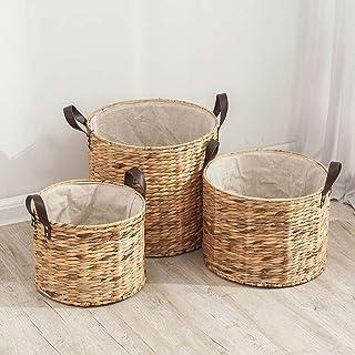 Boîte de rangement pliable en jacinthe d'eau idéale pour ranger des vêtements, des jouets ou des magazines - avec poignée ...