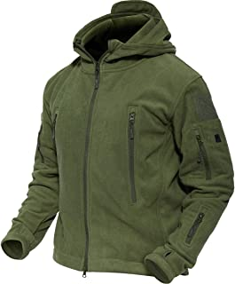 TACVASEN アウトドア タクティカル フリースジャケット 多機能 コート フード 付 保温 防風 スキー 登山