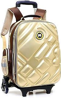 3D Waterproof Rolling Backpack, Multi-Function Trolley Shcool Bag, Suitable for 6-12 Years Old