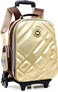 3D Waterproof Rolling Backpack, Multi-Function Trolley Shcool Bag, Suitable for 6-12 Years Old