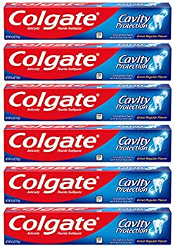 Colgate Cavity Protection Toothpaste with Fluoride - 6 Ounce  Pack of 6