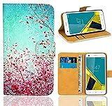 Vodafone Smart Ultra 6 Handy Tasche, FoneExpert® Wallet Hülle Flip Cover Hüllen Etui Ledertasche Lederhülle Premium Schutzhülle für Vodafone Smart Ultra 6 (Pattern 3)