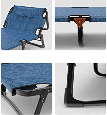 WYDM Portable Lounge Chair,Folding Recliner,Adjustable Backrest Chair for Outdoor Camping,Garden,Removable Headrest and Cotto
