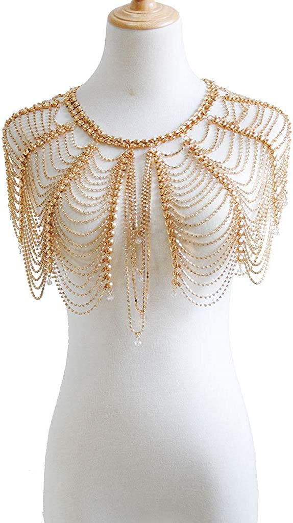 Sinkcangwu Gold Shoulder Necklaces Bra Body Jewelry Chain - 5% OFF Meta Max 62% OFF