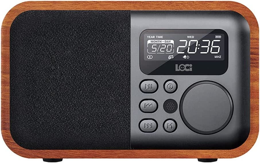 MQH Alarm NEW before selling ☆ Clock Wooden FM A surprise price is realized Audio Disk 4 Radio U