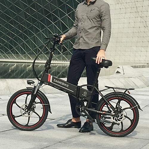 SHIJING Elektrische fiets, 50,8 cm (20 inch), opvouwbaar, elektrische fiets, E-fiets, scooter, 48 V, 350 W motor conjoined Rim