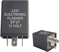 Dewhel LED Electronic Flasher EP27 12 Volt FL27 5-Pin Relay Fix For LED Turn Signal Bulbs Hyper Flash Fix For 1994-2009 Buick Chevrolet Chrysler Dodge Ford Jeep Lincoln Mazda Mercury Oldsmobile
