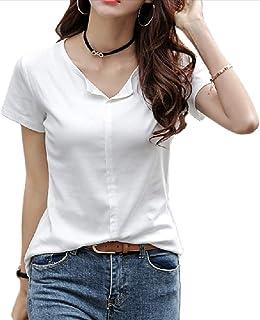 [ハベリィ] Tシャツ トップス カットソー 半袖 無地 カジュアル フィット インナー レディース