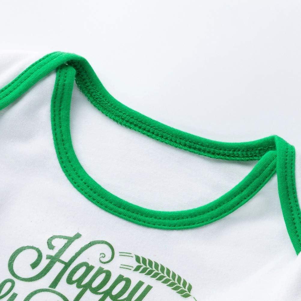 AGQT D/ía de San Patricio Traje para ni/ñas beb/és Carnaval Tr/éboles Verdes Body Tutu Vestido Diadema Calentadores de piernas Zapatos 4PCS Set 0-24 Meses