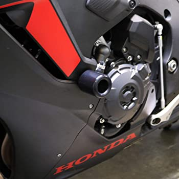 2008-2013 Honda CBR1000RR Black Complete Frame Slider Kit; Includes: Frame Sliders 755-3929 MADE IN THE USA Swing Arm Spools and Bar Ends