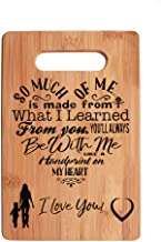 Mothers Present ~ Special Love Heart Poem Bamboo Cutting Board Mom Present Mother Day Mom Birthday Holiday Engraved Side For Decor Display or Hanging Reverse Side For Usage (6 x 9 Rectangle)
