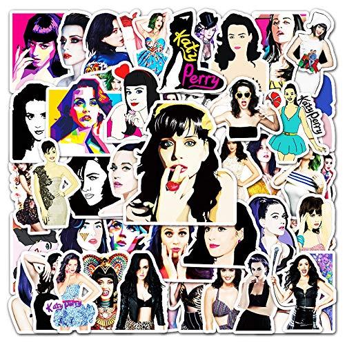 Katy Perry - Adhesivo de graffiti para equipaje, portátil, scooter, teléfono móvil, coche, 50 unidades
