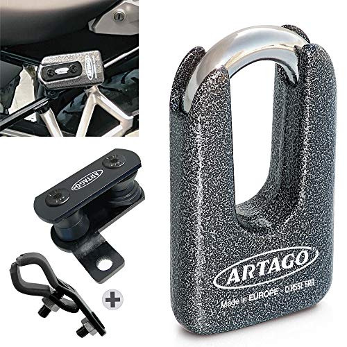 Artago 69T1 Candado Antirrobo Disco Alta Gama Y Soporte Para Bmw