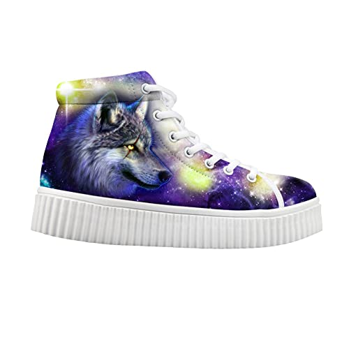 f9a4fc8e10 HUGS IDEA Fashion Colorful Galaxy Women Shoes Platform Sneakers