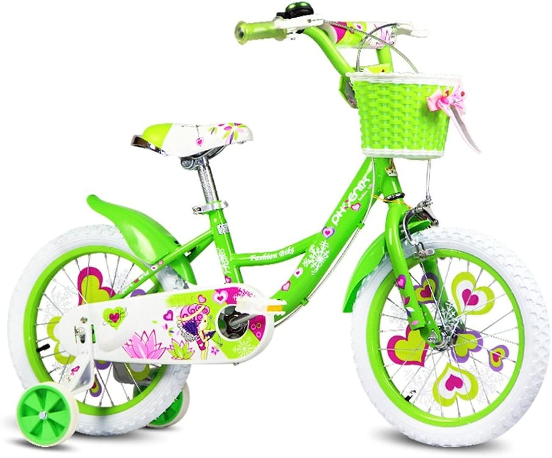 Biciclette YANFEI verde Fairy Bike bambini Bike 3-8 Year Girl Riding stabile e sicura Regalo per bambini
