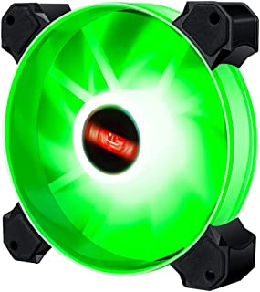 Generic High 12cm LED RGB Round Computer Case Cooling Fan Accessories,Efficient and Aesthetic - Green Light