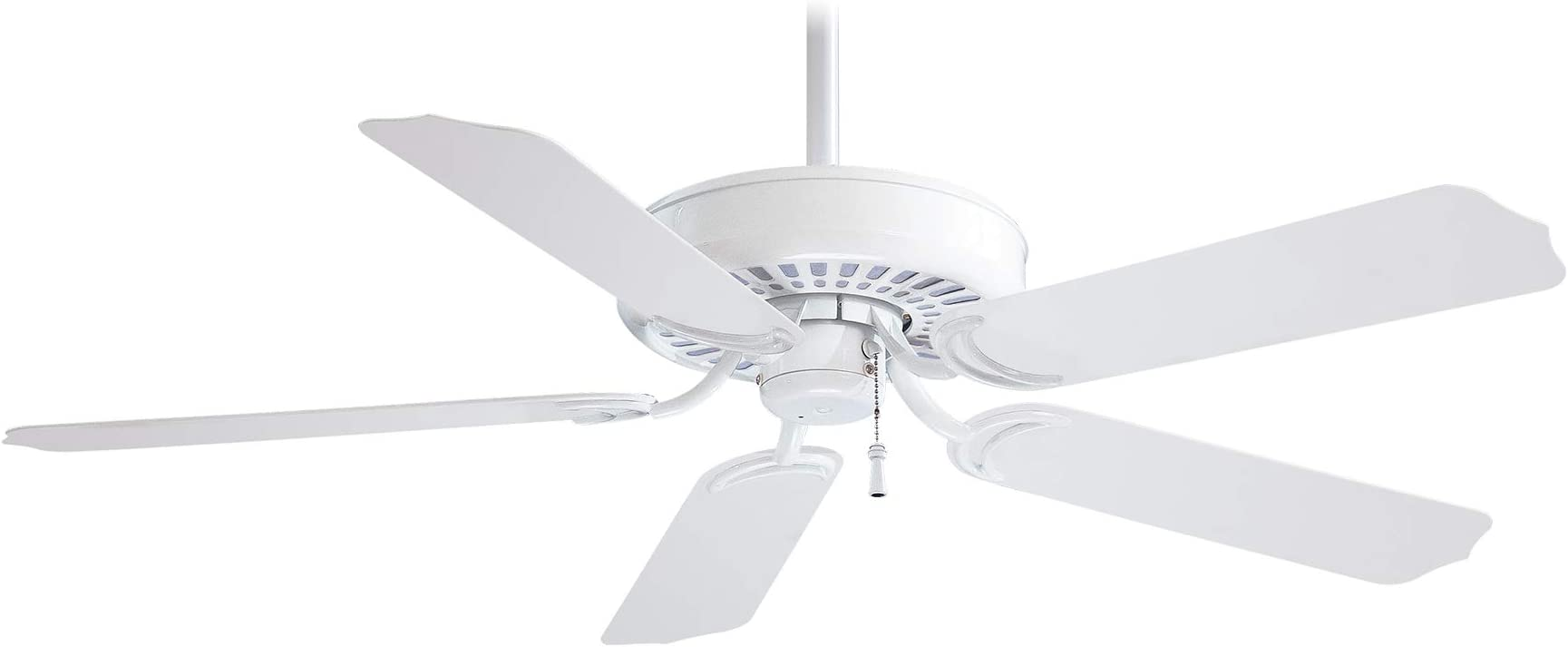 Minka-Aire F572-WH Sundance 42 Inch Outdoor Pull Chain Ceiling Fan in White Finish