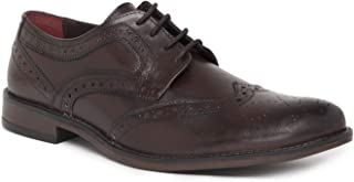 NOBLE CURVE Cherry Leather Derby Brogues Shoes