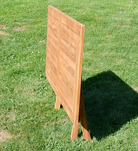 ASS ECHT Teak Holz Klapptisch Holztisch Gartentisch Tisch in verschiedenen Größen von Größe:140x80 cm - 4