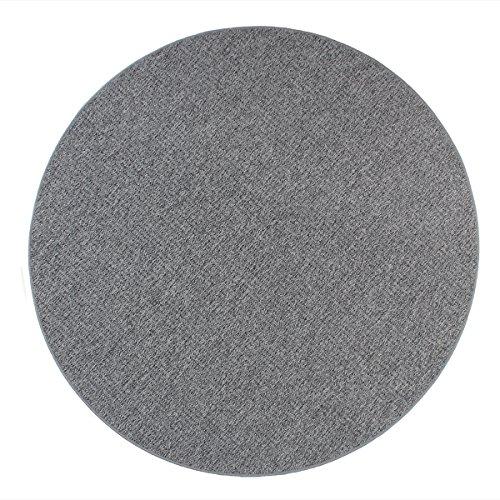 havatex Schlingen Teppich Snake rund - Farbe wählbar | Geprüfte Qualität: schadstoffgeprüft robust und pflegeleicht | für Wohnzimmer Schlafzimmer Büro, Farbe:Grau, Größe:100 cm rund