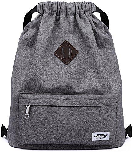 KAUKKO Drawstring Sports Backpack Gym Yoga Bag Shoulder Rucksack for Men and Women