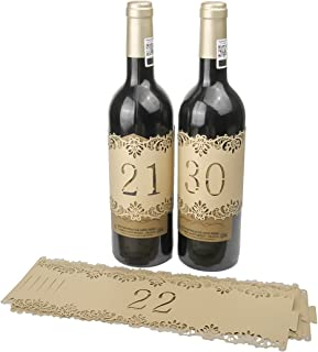 Best wine bottle number labels Reviews