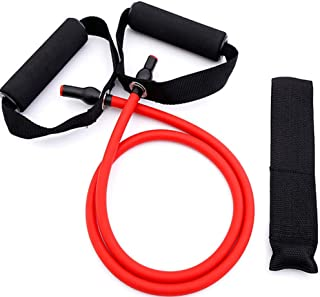 PUEYA Single Resistance Exercise Band Cords, Fitness Multi-Functional Chest Expander Latex Elastic Rope for Physical Thera...