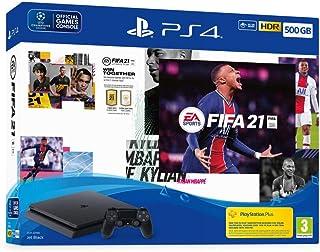 Console Pack Ps4 500 Go + Fifa 21 + Points Fut + Abonnement Ps+ 14 Jours
