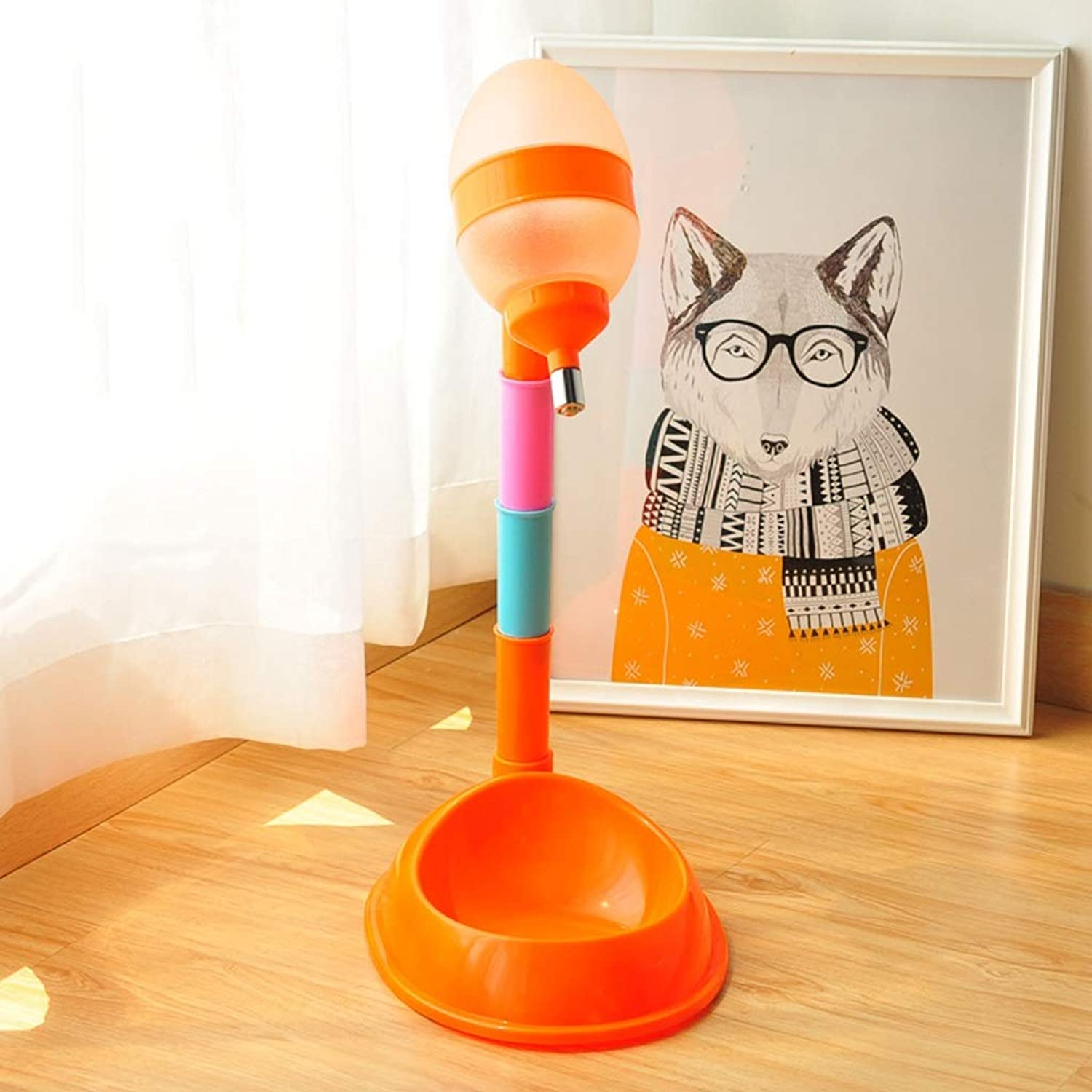 CXQ Dog Bowl Cat Bowl Cat Food Dish Cat Food Bowl Plastic Drop Type Drinking Fountains Pet Supplies (color   orange)