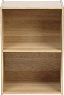 UniShop 2-Tier Storage Rack for Office/Home Décor (Standard Beige, 11.42 x 16.34 x 23.43 inches)