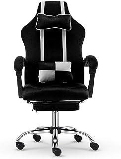 Chairs Silla Racing Silla de Oficina Escritorio de Juegos Silla Alta Volver Juegos reclinable con reposapiés Silla ergonómica Vídeo Silla giratoria E-Sports LQHZWYC