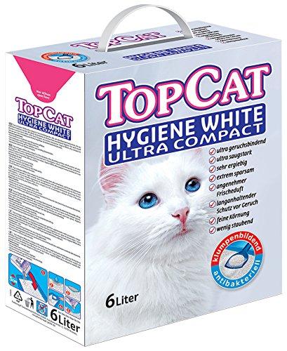 Perfecto Cat 2437 Katzenstreu TopCat Hygiene White Ultra Compact, 6 liter