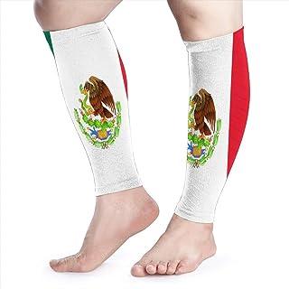 Manga de compresión de pantorrilla La espinilla de pantorrilla de la bandera de México admite calcetines de compresión de piernas - Hombres Mujeres