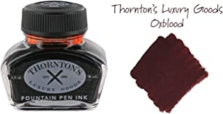 Thornton's Luxury Goods Premium Fountain Pen Ink Bottle 30ml - Oxblood | Smooth Effortless Flawless Writing | Suitable for All Brand and Calligraphy Pens | Office Supplies | International Standard