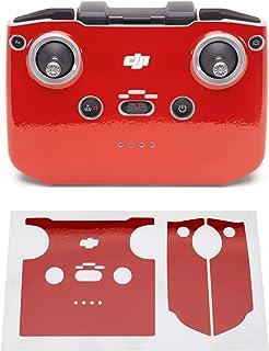 Wrapgrade Skin kompatibel med DJI Mini 2 | Fjärrkontroll (SUPER RED)